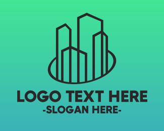 Construction - Minimalist Town logo design