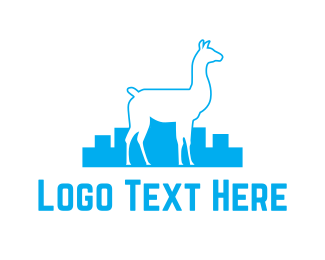 South America - City Llama logo design