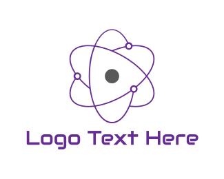 Atom - Purple Atom logo design