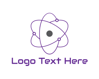 Element - Purple Atom logo design