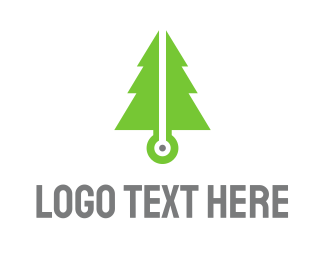 Pine Tree - Pine Tech logo design