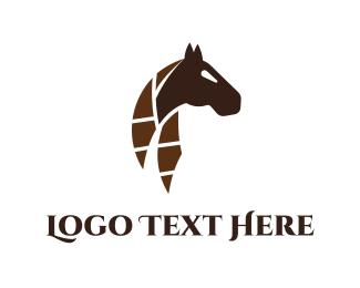 Brave - Abstract Horse logo design