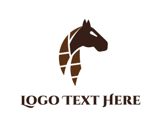 Brave - Abstract Horse logo design
