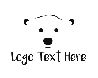 Polar - White Polar Bear logo design