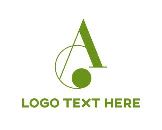 Font - Cursive Letter A logo design