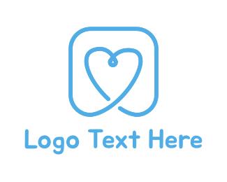 Friendship - Blue Heart logo design