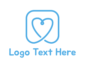 Site - Blue Heart logo design