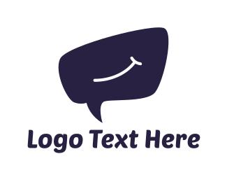 Speech - Smile Bubble logo design