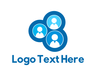 Human Resources - Blue Team logo design