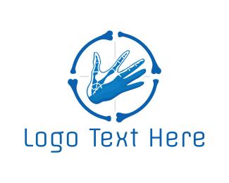 Scan - Hand Target logo design