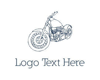 Bicycle - Motorcycle Sketch logo design