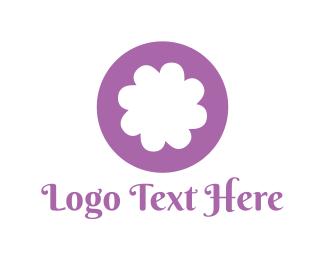 Spa - Purple Flower logo design