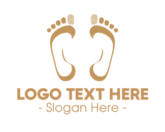 Feet - Foot Print Mark logo design