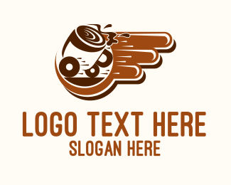 Hot Chocolate - Fast Coffee Delivery logo design