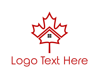 Canadian - Maple House logo design