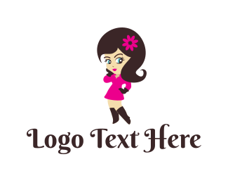 Girl - Charming Girl logo design