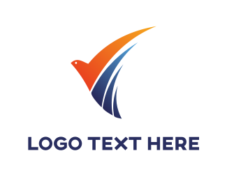 Airline - Modern Bird logo design