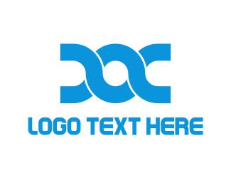 Document - Blue Doc logo design