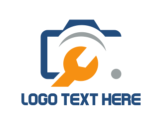 Reparation - Camera & Wrench logo design