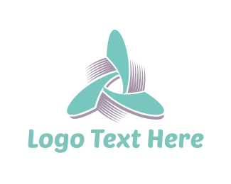 Windmill - Propeller Triangle logo design