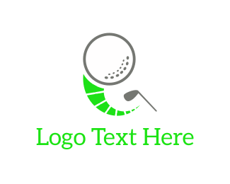 Golfer - Golf Ball & Club logo design