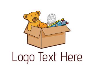 Teddy Bear - Toy Box logo design