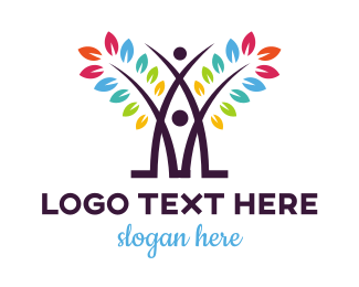 Early Learning Center - Colorful Abstract Tree logo design