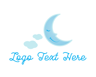 Sleeping - Sleepy Moon logo design