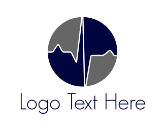 Clinic - Blue Heartbeat  logo design