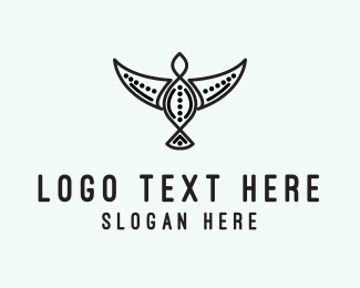 Fly - Tribal Bird logo design