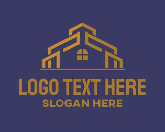 Window - Golden House logo design