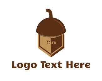 Virus - Shield Nut logo design