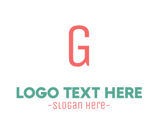 Toddler - Coral Letter G logo design