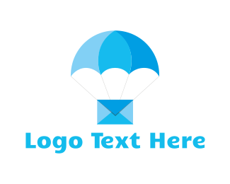 Envelope - Blue Airmail logo design