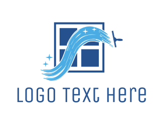 Cleaner - Window Cleaner logo design
