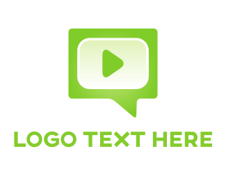 Speech - Green Media logo design