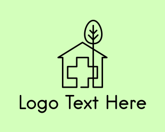 Nurse - Tree & Hospital logo design