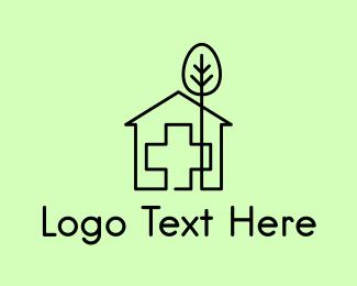 Hospice - Tree & Hospital logo design