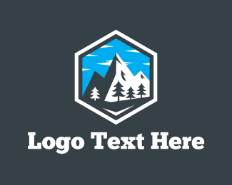 Exploration - Snow Mountain  logo design