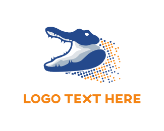 Darwin - Digital Gator logo design