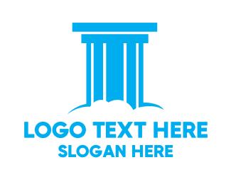 Column - Cloud Pillar logo design
