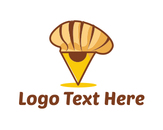 Croissant - Chef Locator logo design