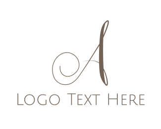 """Luxurious A Script"" by eightyLOGOS"