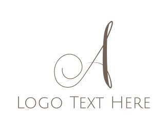 Luxurious A Script Logo