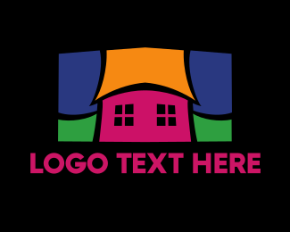 Residential - Colorful Mosaic House  logo design