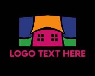 Educational - Colorful Mosaic House  logo design