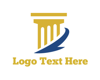 Law - Golden Column logo design