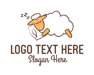Rest - Sleeping Sheep logo design
