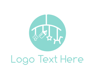 Nursery - Baby Mobile logo design
