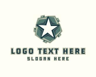 Helmet - Star Shield logo design